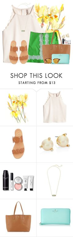 """~you are essential not accidental~"" by flroasburn ❤ liked on Polyvore featuring Jack Rogers, Kate Spade, Bobbi Brown Cosmetics, Kendra Scott, Tory Burch and Ray-Ban"