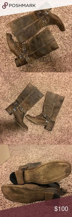 Bed Stu Opal Boots Size 8 👢👢 Like new condition. Very soft leather w/blue royal stitching. Worn once for a hour or so and have not worn them since! Super cute! All reasonable offers considered! Bed Stu Shoes Heeled Boots
