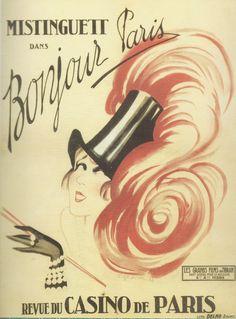 Mistinguett, Promotional by Charles Gesmar, 1925