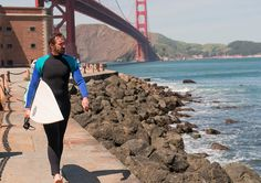 Halt and Catch Fire Season 3 - Promo image: Joe Macmillan, surfing under the Golden Gate span