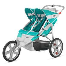 http://www.specialtytoystores.com/category/jogging-stroller/ InStep Flash Double Jogging Stroller Green/Gray