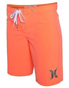 Hurley Phantom Solid 9in Beachrider Board Short - Women's Bright Mango, 5,  Orange