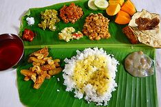 A South Indian style typical meal served at weddings , birthdays and is just too good to be true.