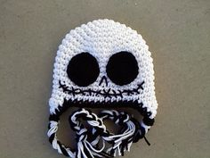 Jack Skellington Earflap Beanie Photography by LoveMeRaggedbyTracy, $24.00