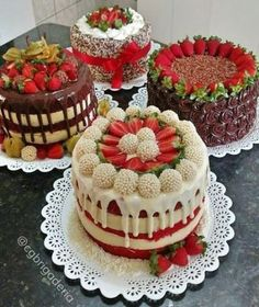 18 Ideas For Chocolate Cake Decoration Strawberry Food No Bake Desserts, Delicious Desserts, Baking Desserts, Baking Cupcakes, Cake Cookies, Cupcake Cakes, Sweets Cake, Super Torte, Cake Recipes
