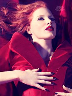 Jessica Chastain By Micaela Rossato For Instyle Uk February #red, #design, #pinsland, https://apps.facebook.com/yangutu