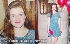 """Georgie Henley oufit at the """"Legally Blonde - The Musical"""" Press Night in London, Great Britain on July 13, 2011."""