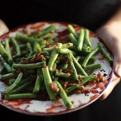 These Sichuan-style green beans are blistered on the outside, rendering them tender within and with just a whisper of a chew.