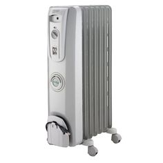 01fe8d34dd2 Effectively and efficiently heat any room of the home with this DeLonghi  Comfort Temp Oil-Filled Radiator Heater.