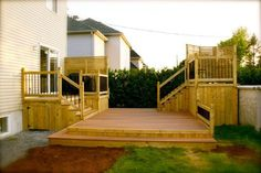 Pool deck and patio ideas images. We specialise in pool deck and patio installation. Above Ground Pool Decks, In Ground Pools, Diy Patio, Backyard Patio, Patio Plus, Porches, Patio Furniture Makeover, Backyard Makeover, Diy Terrasse