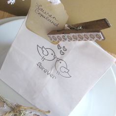 "Wedding favor bags (50) 4"" x 8"" - wedding favor bags, candy station bags, love birds  in black, candy buffet bags on Etsy, $20.00"