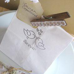 Wedding favor bags 50 4 x 8 wedding favor bags by Artesenias