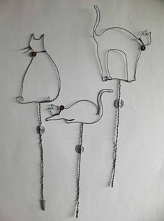 a series of cat silhouettes: links is to a french blog with many pretty wire items.