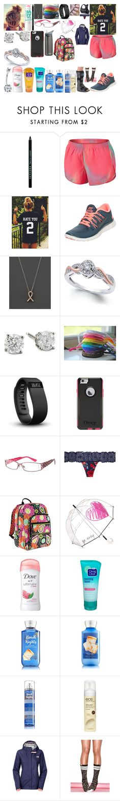 """""""4/25/17"""" by itwirl123 ❤ liked on Polyvore featuring Maybelline, Sephora Collection, NIKE, Bloomingdale's, Anastasia, Fitbit, Victoria's Secret, CamelBak, Vera Bradley and Felix Rey"""