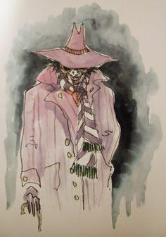 Tim Burton Joker concept art