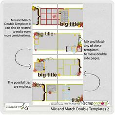 Scrapping With Liz - Mix and Match Double Templates 2
