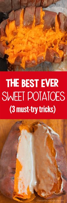How to cook sweet potatoes that will yield the absolute BEST sweet potatoes you've ever tried in your life, from @choccoveredkt