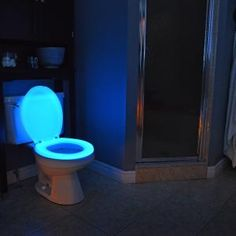 Glow in the dark toilet seat perfect for the elderly or children