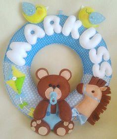 Babby decor,Teddy bears ,Handmade, Felt, Teddy bear, Room Decor, Ornament, Nursery Decor,Teddy toys,Personalized Name Banners