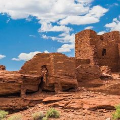 The Wukoki Pueblo is just one of the many ruins to be found at Wupatki National Monument. #WanderFilledOutWest
