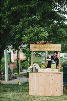 Rustic Barnyard Wedding filled with on-trend rustic style details including a cheese station and lemonade stand. Wedding Pins, Wedding Reception, Rustic Wedding, Dream Wedding, Wedding Day, Lemonade Bar, Lemonade Stands, Spiked Lemonade, Do It Yourself Wedding