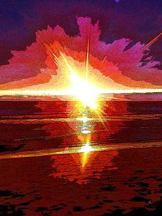'Wenn die See die Sonne löscht ...' von Dirk h. Wendt bei artflakes.com als Poster oder Kunstdruck $18.03