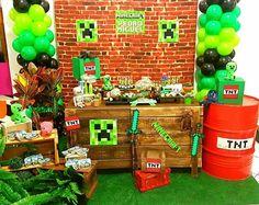 Minecraft Party Food, Minecraft Party Decorations, Minecraft Birthday Cake, 7th Birthday, Birthday Parties, Homecoming Floats, Mini Craft, Ideas Para Fiestas, Sandro