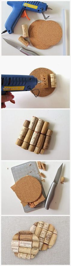 joybobo: DIY WINE CORK COASTERS
