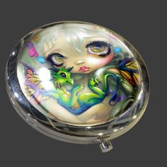 Darling Dragonling Compact Mirror | Art by Jasmine Becket-Griffith