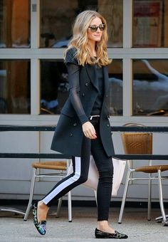 Olivia Palermo wearing Rachel Zoe jacket, Hudson Jeans Leeloo Super Skinny  Crop in Insomniac, Ralph Lauren Black Label Long-Sleeved Mesh Top, Olivia  Palermo ... 3a894e8292d6