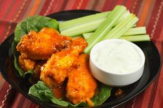 Honey-Lime Buffalo Wings with Homemade Bleu Cheese Dressing