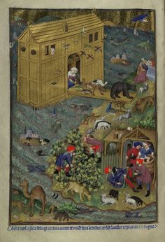 """""""Different views of #NoahsArk ... I wonder how many of these would be seaworthy (BL Add 11639; BL Add 11695; BL Add 18850; BL Royal 14 B IX)"""""""