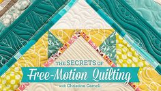 A Few Scraps: Free Motion Quilting Designs: Meandering and variations