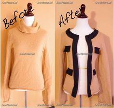 DIY Clothing & Tutorials: SewPetiteGal: J. Crew Merino Cambon Cardigan Inspired DIY