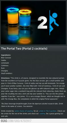 Funny pictures about The Portal Cocktails. Oh, and cool pics about The Portal Cocktails. Also, The Portal Cocktails photos. Game Cocktail, Cocktail Videos, Cocktail Recipes, Cocktails, Bar Drinks, Alcoholic Drinks, Beverages, Fancy Drinks, Fun Drinking Games