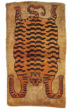 Tibetan Tiger Rug (giovanni garcia-fenech) kThis post has 372 notes tThis was posted 3 years ago zThis has been tagged with giovanni garcia-fenech, Tibet, Textiles, Textile Patterns, Textile Art, Tibetan Rugs, Tibetan Art, Tiger Rug, Rugs On Carpet, Carpets, Arte Popular