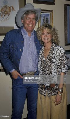 Actor Doug McClure and Connie Stevens attend Windfeathers Foundation Exhibit on March 1987 at Lalo and Brothers Gallery in Encino, California. Get premium, high resolution news photos at Getty Images Best Barbecue Sauce, Connie Stevens, Doug Mcclure, James Drury, The Virginian, Tv Westerns, Guys And Dolls, Actors & Actresses, Tv Shows
