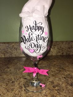 happy valentine glass rose tube
