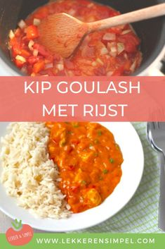 Kip goulash – Food And Drink Big Meals, One Pot Meals, Easy Meals, Dutch Recipes, Cooking Recipes, Healthy Recipes, Healthy Diners, Low Carb Brasil, Food Inspiration