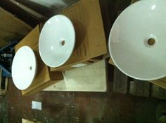 Scarabeo Cup Bathroom Basins, 46cm dia. X 11cm height. For placement on any base. 8kgs in weight. Available in colours
