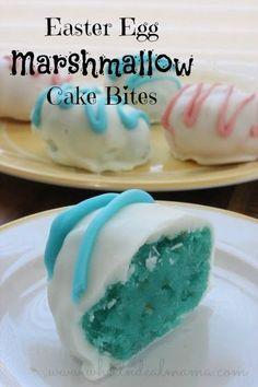 Easter Egg Marshmallow Cake Bites