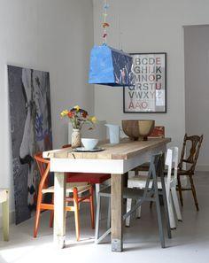 Mélange de couleur et de style autour de la table / Mix color and style around the table