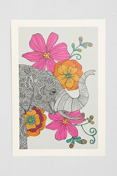 Valentina Ramos Dreams Of India Art Print - kind of love the idea of this in the nursery