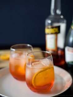 Aperol spritz - Aperol and prosecco. a wonderful alternative to a mimosa for brunch