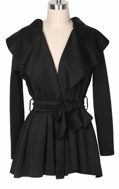 Black Hoodie Coat - this is really dressy and perfect for cool days this fall.