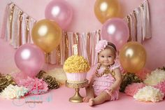 1st Birthday Photos Pink And Gold 1st Birthday First