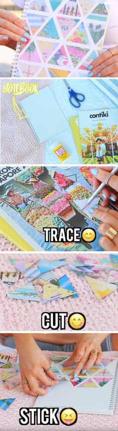 Insane Collage Notebook | DIY School Supplies for Teens Highschool  The post  Collage Notebook | DIY School Supplies for Teens Highschool…  appeared first on  Merdis Haircuts .