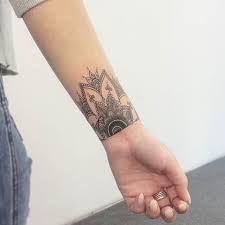 wrist tattoo cover up Mandala Wrist Tattoo, Wrist Henna, Wrist Tattoo Cover Up, Cover Up Tattoos For Women, Ankle Tattoos For Women, Shoulder Tattoos For Women, Inner Wrist Tattoos, Flower Wrist Tattoos, Cuff Tattoo