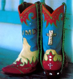 our friend MAry Emmerling's cowboy boots :: from The Art of the Cross by Mary Emmerling