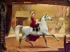 Johann Jakob Eduard Handwerk:The Circus Rider